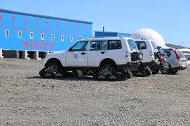 Antarctic ATVs.