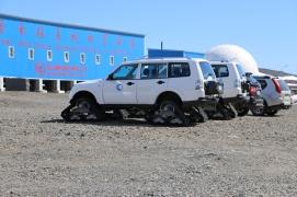 Antarctic ATVs.