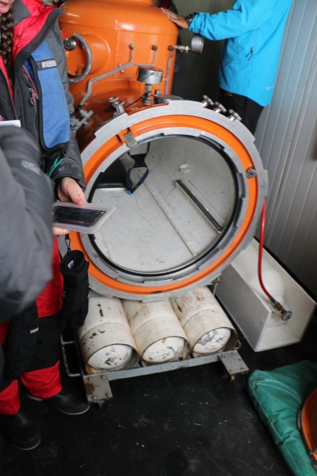 Hyperbaric chamber.