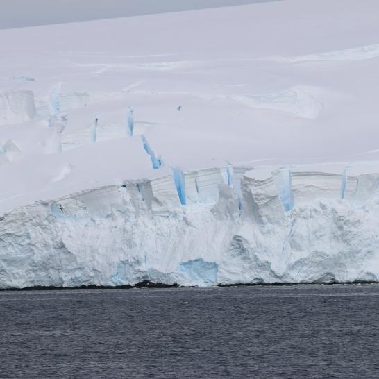 Glacier on the adjacent Two Hummocks Island.